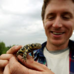 Edmonton. July 9, 2008. Brett Scheffers, a master's student in the Department of Biological Sciences, is monitoring assorted frogs, garter snakes and salamanders living in the city's urban wetlands, as well in Sherwood Park and St. Albert, to determine what risk urbanization poses for northern amphibians.Candace Elliott/Edmonton Journal
